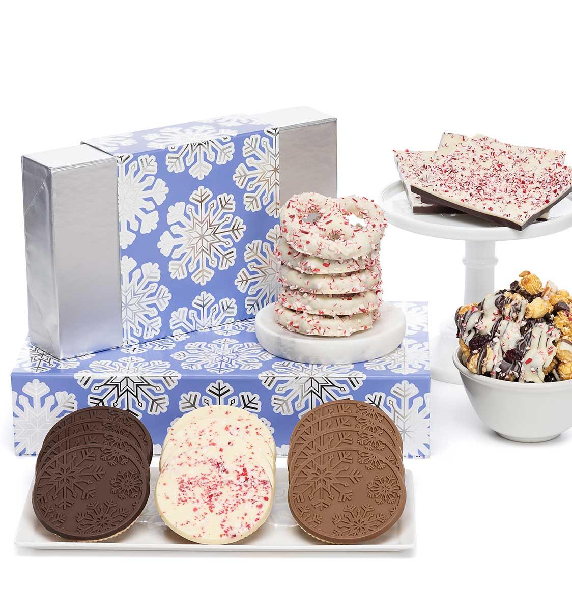 Holiday Snowflake Cookies Christmas Chocolate Gift Basket