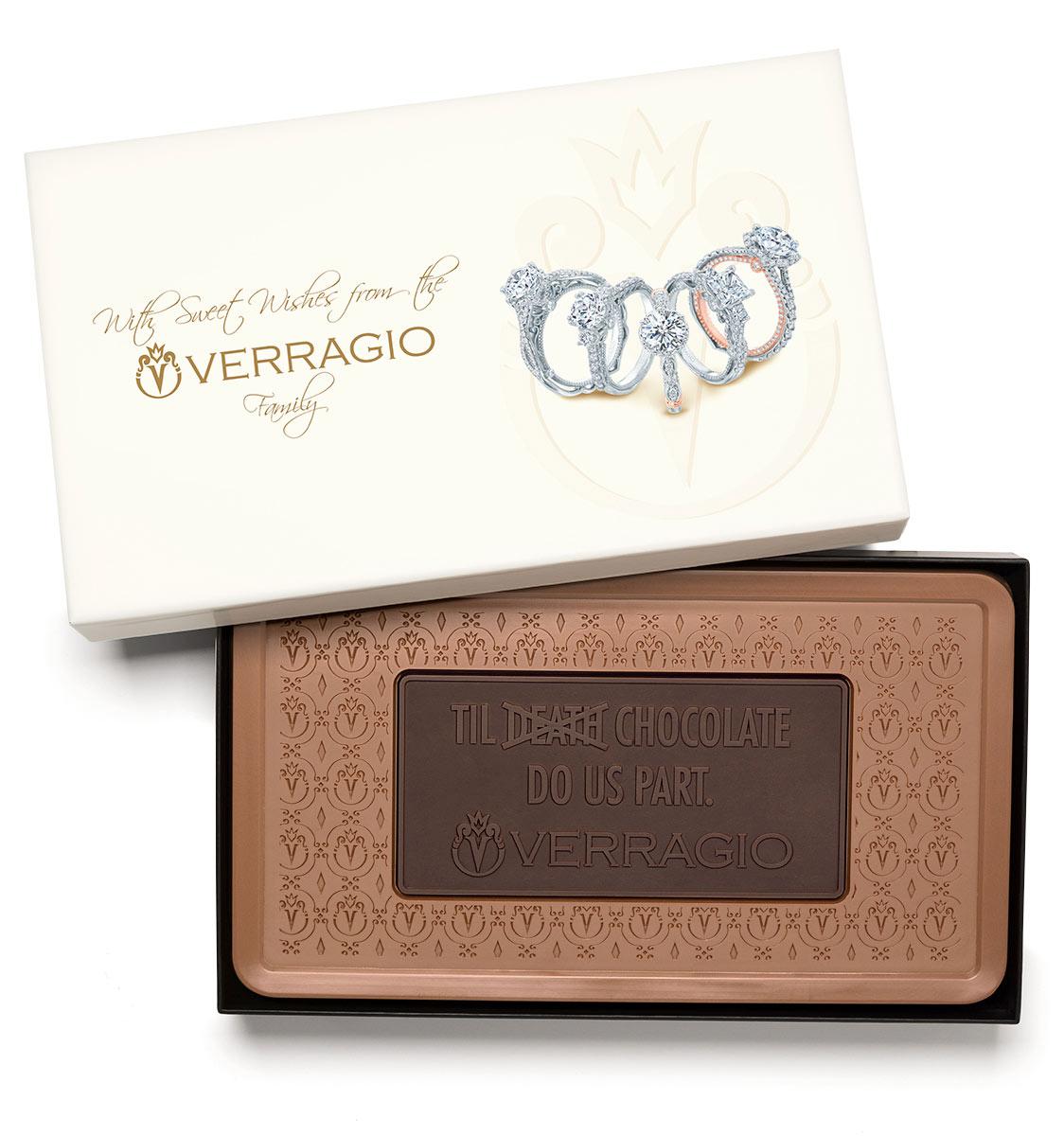 Custom indulgent combo bar engraved belgian chocolate with logo