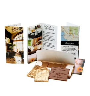 custom chocolate 7335 printed folder belgian chocolate trio custom custom rollover