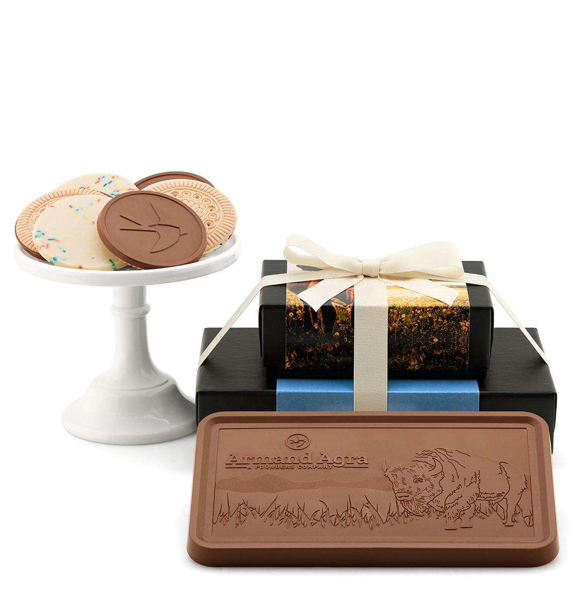 fully-custom-chocolate-8202-grand-2-piece-gift-tower-band-cookies-bar-armand-agra